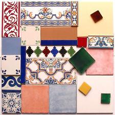 Bunte Fliesenreste für Mosaik, ca. 60x60cm, aus Spanien, Portugal und Mexiko