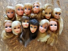 Collection Of 12 Vintage Barbie Heads