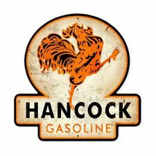 "Hancock Gasoline Shield Shaped Metal Sign 16"" x 16"" (pst)"