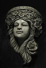 Art Nouveau Head sculpture Wall Plaque