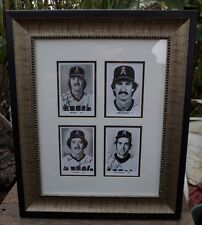 Rare Vintage 4 Angel Coach 1970's Team Issued Autographed Photos Framed