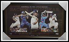 Sachin Tendulkar Signed India Cricket Farewell to the Little Master Print Framed