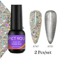 2Pcs/Set PICT YOU UV Gel Nail Polish Glitter Soak Off Nail Art UV Gel Varnish