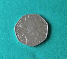 Benjamin Bunny 50 Pence Coin - Good Circulated Condition