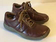 Skechers Casual Shoes Men Sz 11 (45) Leather Upper Brown Lace Up