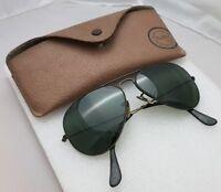 Sunglasses Ray Ban B&L 58*14 USA blak frame aviator style + Case