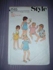 VINTAGE STYLE PATTERN 1145 ~ TODDLER TOP & SUNSUIT ~ 2 STYLES ~ SZ 1 ~ NEW