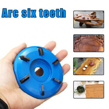 3/6 Teeth Power Wood Carving Cutter Disc Milling Attachment for Angle Grinder