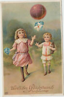 B 515 Geburtstag 1912 ! Kinder mit Ballon - Post ! schöne Präge - Karte ! EAS !