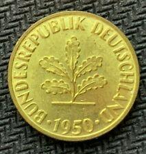 1950 D Germany 5 Pfennig Coin CH BU     World Coin High Grade    #C875