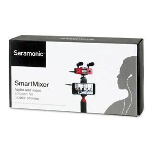 Saramonic SmartMixer Compact Audio Mixer with Phantom Power for iPhone & Android