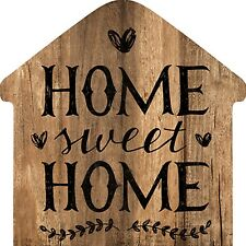 """Wooden MFC Wall Decorative Plaque Sign 12"""" x 12"""" Home Shape Sign"""