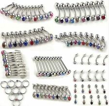 100pc wholesale bulk body jewellery belly tongue lip Crystal rhinestone piercing
