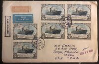 1981 Leningrad Russia USSR Registered Airmail Cover To Tampa Florida USA