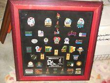 Olympic Games 1996 Atlanta Coke Coca Cola Commemorative 30+ Pin Set Framed
