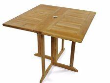 "Premium Grade A Teak 35"" Sq DropLeaf Folding Table, Use w/1 leaf or 2 ,SALE!"