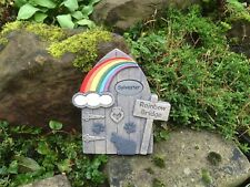 Personalised Rainbow Bridge Door Cat and Paws Design for Garden Special Place