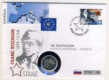 SLOWENIEN - 2 Euro 2011 - NUMISBRIEF - Franc ROZMAN (8378/17)