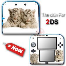 White Baby Tigers SKIN VINYL STICKER DECAL COVER for Nintendo 2DS