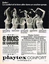 PUBLICITE ADVERTISING  1965   PLAYTEX  soutien gorge confort