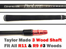 Grafalloy Stiff Pro 3 wood shaft+TaylorMade adapter tip fit all R11+R9 3 woods