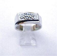Special Kabbalah Amulet Ring Sterling Silver & 14K Gold