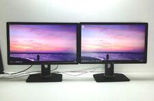 "2 x Dell P2312HT WIDE LCD Monitor 2x 23"" 46"" FULL HD 1920x1080 DVI VGA GRADE A"