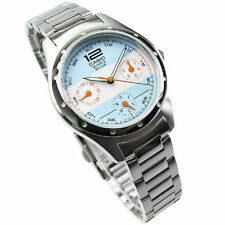 "NEW Casio Ladies Dress Steel Watch LTF300D-2A Blue/White Dial ""ARGENTINA FLAG"""