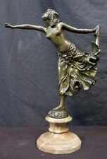 Vintage Early 20th Century Bronze Dancer by Colinet