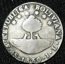 Bolivia 4 Sols 1830 Silver  circulated  A40-324