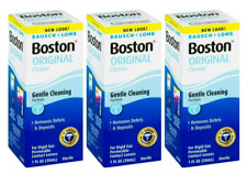 3 Packs - Bausch & Lomb Boston Original Cleaner, 1 oz 05/each New/Sealed!