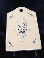 """VILLEROY & BOCH VIEUX LUXEMBOURG CHEESE AND CRACKER BOARD 8 1/2"""" BLUE FLOWERS"""