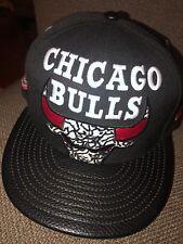 78843ac6724 NWT Adult New Era NBA Chicago Bulls Elephant Print Leather Brim SNAPBACK Hat   32