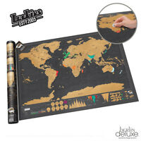 LUCKIES Scratch Map Deluxe XL Scratchmap NEU / OVP Rubbel-Karte Weltkarte Poster