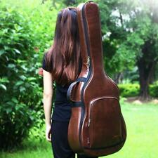 Acoustic And Folk Guitar Carrying Carry Case Bag Backpack Leather Holder Sleeve