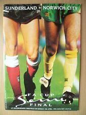 FA Cup Semi Final 1992- SUNDERLAND v NORWICH CITY, 5th April
