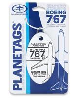 Aluminium Schlüsselanhänger aus echter Boeing 767-300 / Planetags original ANA