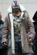 Bane Jacket Genuine Got Hide Leather Buffing Brown Trench Coat Dark Knight Rises
