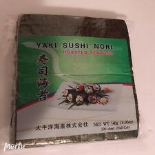 New 100 sheet Yaki Sushi Nori Roasted Seaweed Free Shipping