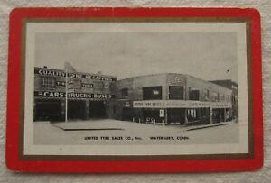 Vintage Calendar Card*Advertisement*Waterbury CT*United Tyre Sales*Connecticut*