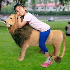 "40"" Lifelike  Lion King Toy Doll Plush ride on toys Giant Stuffed Xmas gifts"