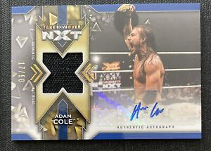 2020 Topps NXT WWE ADAM COLE Auto Mat Relic Blue #d /50 AEW