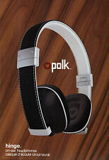 Polk Hinge Black Compact On-Ear Heritage Collection Headphone