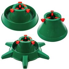 UNIQUE Xmas Christmas Tree Stand Real HEAVY DUTY Water Reservoir Round GREEN