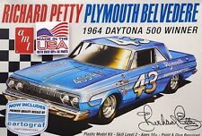 Plymouth Belvedere Richard Petty 1ST 1964 Daytona 500 Nascar 1:25 AMT 989 Kit