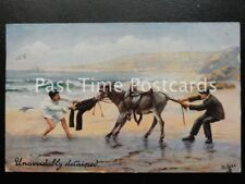 c1907 Tucks - Unavoidably Detained - showing Beach Donkey 'push me pull me'