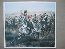 affiche charge de Hussards du premier empire