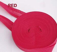 25mm (1 pulgadas) vinculante sesgo de Algodón Rojo Cinta doblado ribete Rollo 25 metros de recorte