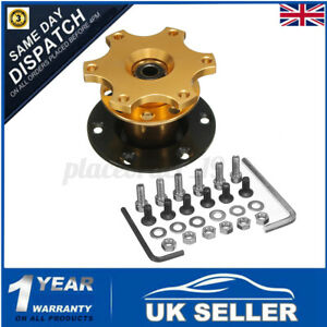Car Gold Steering Wheel Quick Release HUB Racing Adapter Snap Off Boss Kit UK