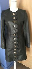 Tory Burch Gray Leather Coat - Size 4